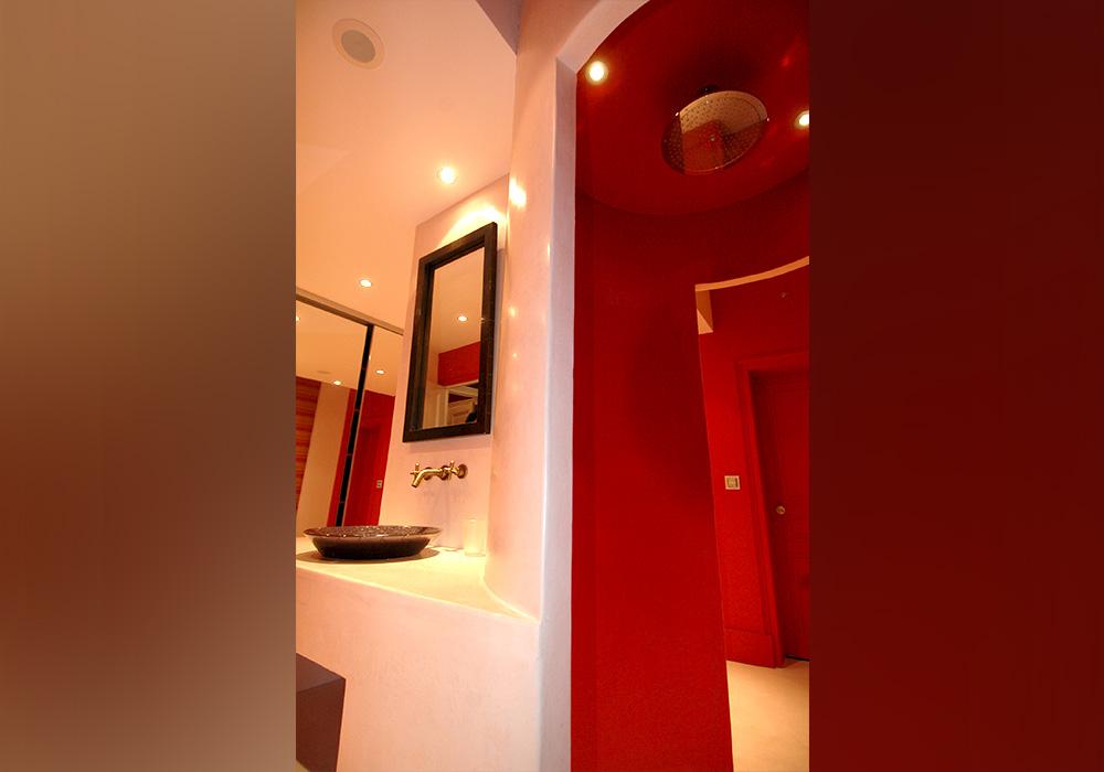 Agencement salle de bains ronde